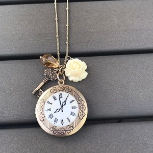 Jewelry - Gold Locket with Charms $8 (bundle 3 for $20)